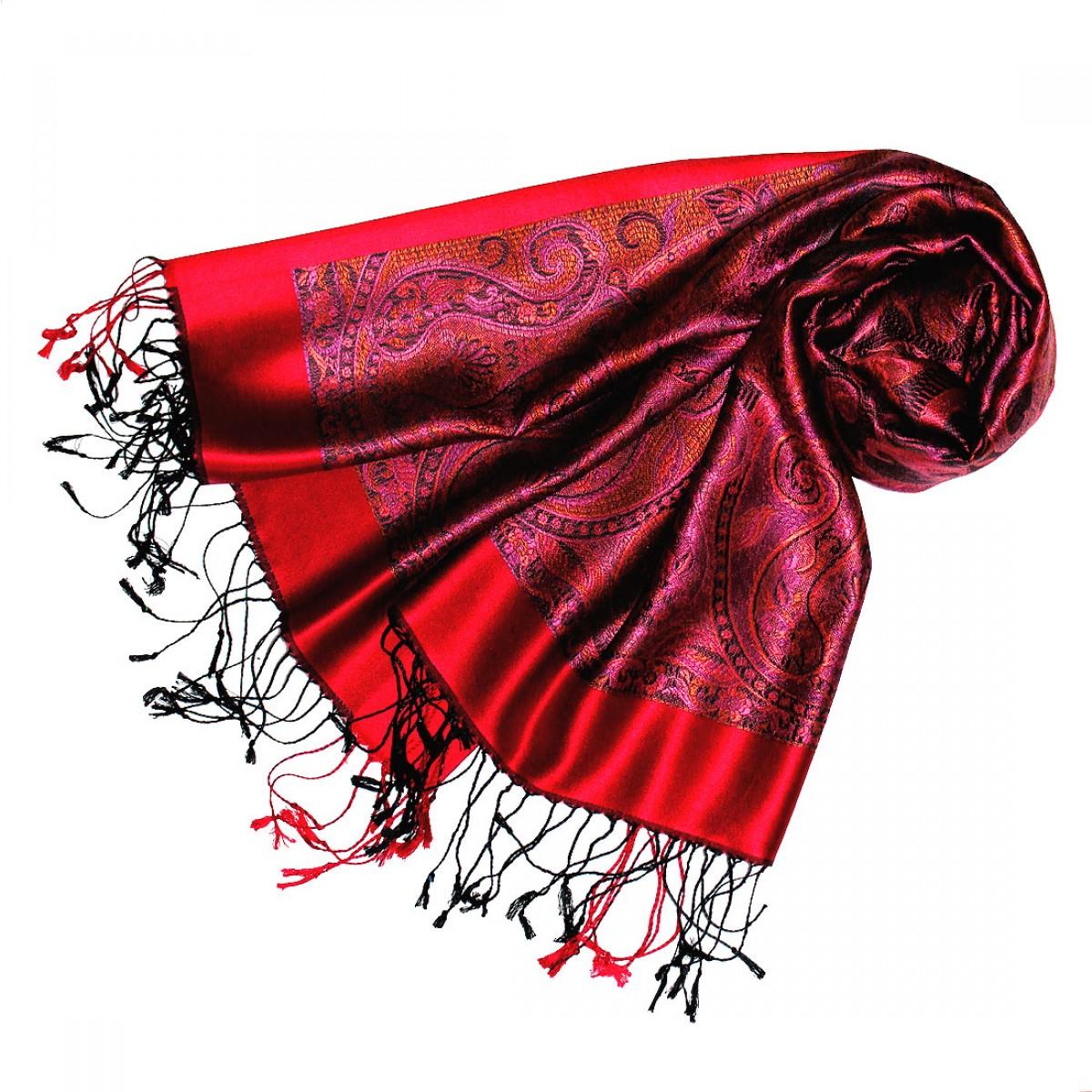 schal krawatte decken der online shop seidenschal rot beere violett paisley damen lorenzo cana. Black Bedroom Furniture Sets. Home Design Ideas