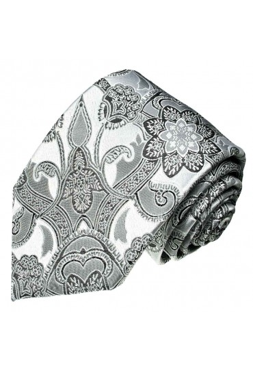 Hochzeit Krawatte wei silber LORENZO CANA