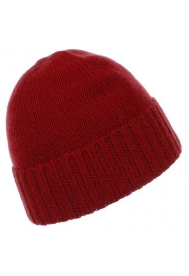 Mütze 100% Kaschmir rot tomatenrot LORENZO CANA