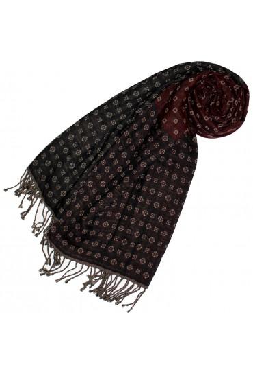 Baumwolle + Wolle Halstuch grau rot beige LORENZO CANA