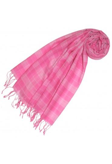 Kaschmir + Wolle Damenschal pink Karo LORENZO CANA