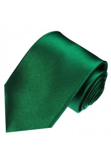 Krawatte 100% Seide Unifarben jägergrün dunkelgrün LORENZO CANA