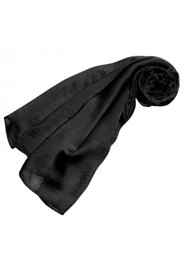 Herrenschal Seide schwarze Streifen LORENZO CANA