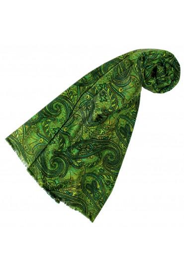 Schaltuch Damen Paisley grün gelb LORENZO CANA
