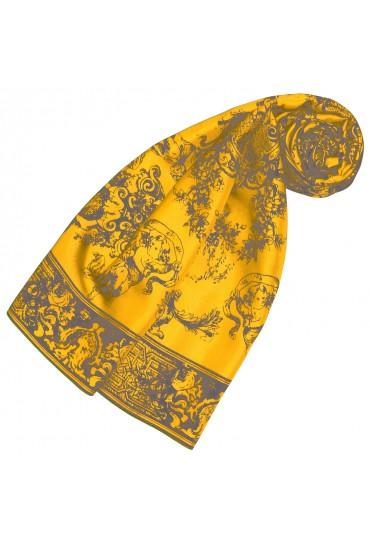 Schal aus Seide Gelb Floral LORENZO CANA