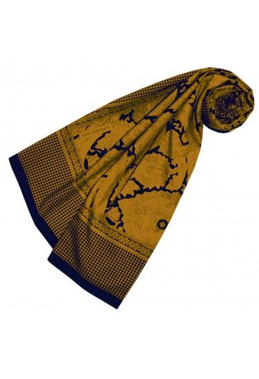 XXL Schal für Frauen Gold Baumwolle LORENZO CANA