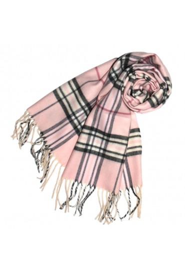 Schal für Herren Polyacryl rosa schwarz weiss LORENZO CANA