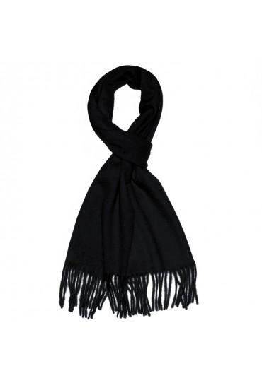 Schal für Herren Cashmink braun camel schwarz LORENZO CANA