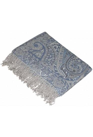 Wolldecke grau taubenblau LORENZO CANA