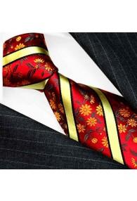 Herren Krawatte Rot Grün Gold LORENZO CANA