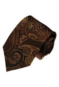 Krawatte 100% Seide Paisley Braun Mocca LORENZO CANA