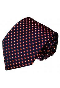 Krawatte 100% Seide Punkte dunkelblau tiefseeblau LORENZO CANA