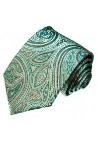 Krawatte 100% Seide Paisley petrol türkis LORENZO CANA