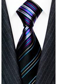 Krawatte 100% Seide Streifen mehrfarbig LORENZO CANA