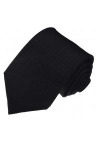Krawatte 100% Seide schwarz LORENZO CANA