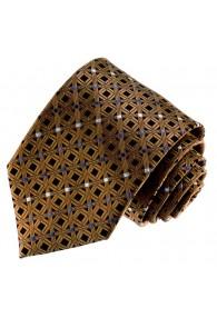 Krawatte 100% Seide elegantes Schwarz LORENZO CANA