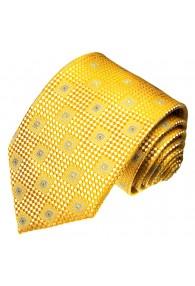 Krawatte 100% Seide Karo gold gelb LORENZO CANA