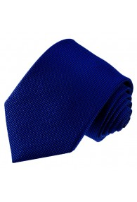 Krawatte 100% Seide Karo dunkelblau tiefseeblau LORENZO CANA