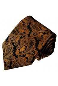 Krawatte 100% Seide Braun Schwarz Paisley LORENZO CANA