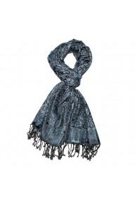 Schaltuch Paisley blau grau schwarz LORENZO CANA