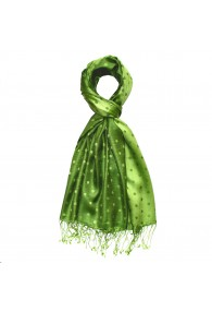 Herren Pashmina Punkte grasgrün grün LORENZO CANA
