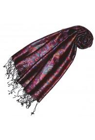 Seidenschal violett purpur türkis Paisley Damen LORENZO CANA