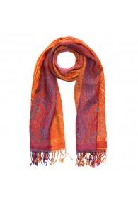 100% Wolle Schaltuch Paisley orange magenta LORENZO CANA