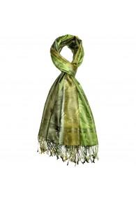 Schaltuch 100% Seide Paisley grün grasgrün hellgrün LORENZO CANA