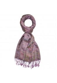 Schaltuch Paisley violett lila rot LORENZO CANA