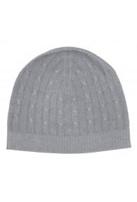 Mütze Kaschmir Zopfmuster Grau LORENZO CANA