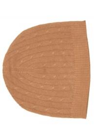 Mütze Kaschmir Zopfmuster Ocker LORENZO CANA