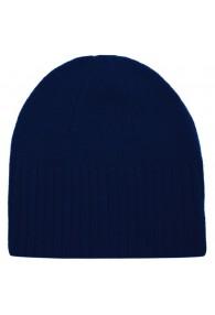 Mütze 100% Kaschmir Umschlag Blau LORENZO CANA