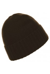 Mütze 100% Kaschmir Umschlag Kastanien Braun LORENZO CANA