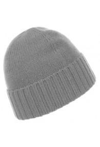 Mütze 100% Kaschmir grau silbergrau LORENZO CANA