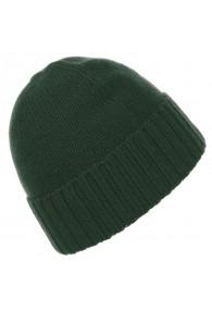 Mütze 100% Kaschmir Zopf grün grasgrün LORENZO CANA