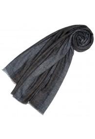 Kaschmir Schal Streifen natur dunkel LORENZO CANA