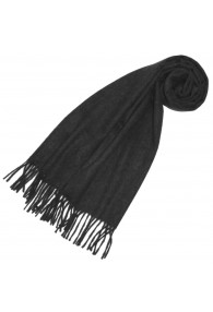 Schal für Frauen Dunkelgrau Alpakawolle LORENZO CANA