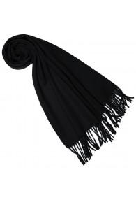 Schal für Frauen Schwarz Alpakawolle LORENZO CANA