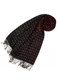 Baumwolle + Wolle Männer Halstuch grau rot beige LORENZO CANA