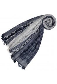Schal für Männer Grau Dunkelblau Baumwolle LORENZO CANA