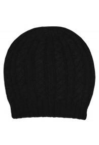Mütze 100% Alpakawolle Schwarz LORENZO CANA
