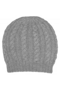 Mütze 100% Alpakawolle Nebelgrau LORENZO CANA