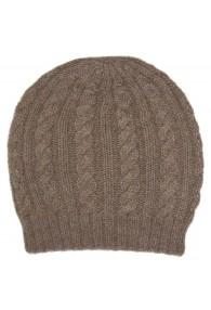 Mütze 100% Alpakawolle Cappuccino Braun LORENZO CANA