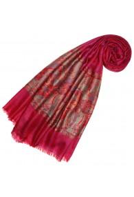 Kaschmirschal Pink Rot  Paisley LORENZO CANA