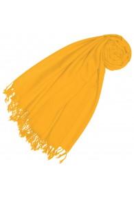 Kaschmir + Wolle Damenschal gelb einfarbig LORENZO CANA