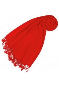 Kaschmir + Wolle Damenschal rot einfarbig LORENZO CANA