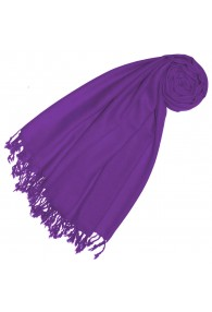 Kaschmir + Wolle Damenschal violett einfarbig LORENZO CANA