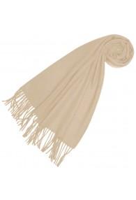 Schal für Männer Cremeweiß Alpakawolle LORENZO CANA