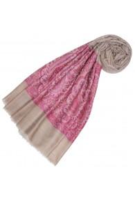 Kaschmirschal Sand Pink Paisley LORENZO CANA
