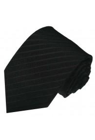 Krawatte 100% Seide Streifen schwarz anthrazit LORENZO CANA